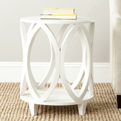 Janika End Table Color: Off White