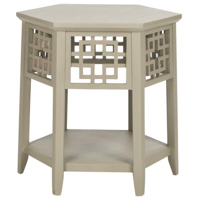 Zelda End Table Color: Pearl Taupe