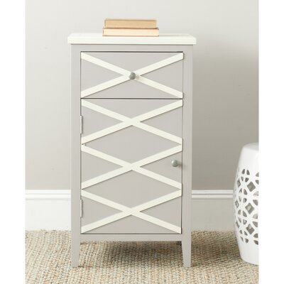 Brandy 1 Door Cabinet Finish: Grey / White