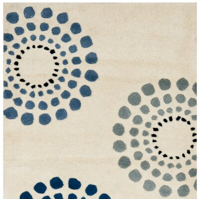 Soho Ivory / Multi Rug Rug Size: Rectangle 76 x 96