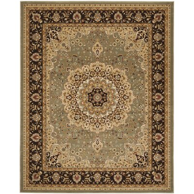 Majesty Sage/Brown Area Rug Rug Size: Rectangle 79 x 99