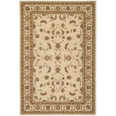 Majesty Creme Area Rug Rug Size: Rectangle 53 x 76