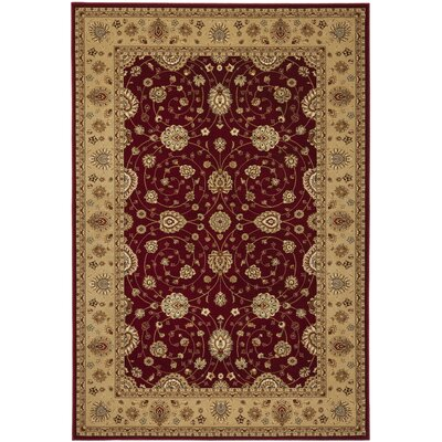 Majesty Red/Camel Area Rug Rug Size: Rectangle 53 x 76