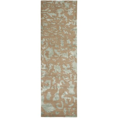 Soho Taupe/Blue Area Rug Rug Size: Runner 26 x 10