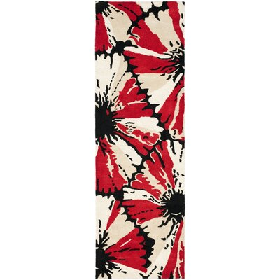 Soho Black/Red Area Rug