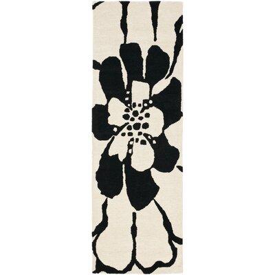 Soho Black/White Area Rug Rug Size: Runner 2'6