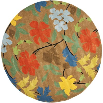 Soho Brown Area Rug Rug Size: Round 6