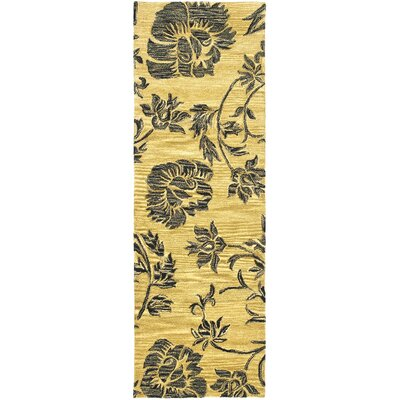 Soho Gold/Black Area Rug Rug Size: Runner 26 x 8