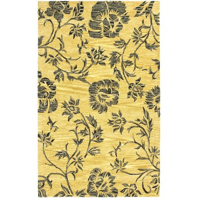 Soho Gold/Black Area Rug Rug Size: 36 x 56