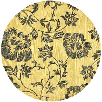 Soho Gold/Black Area Rug Rug Size: Round 6