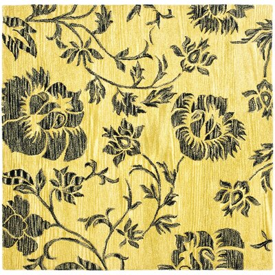 Soho Gold/Black Area Rug Rug Size: Square 6