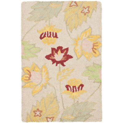Blossom Wool Ivory / Multi Contemporary Rug Rug Size: Scatter / Novelty Shape 2' x 3'