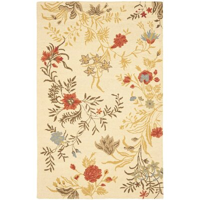 Blossom Flower Beige / Multi Contemporary Rug Rug Size: Rectangle 8 x 10