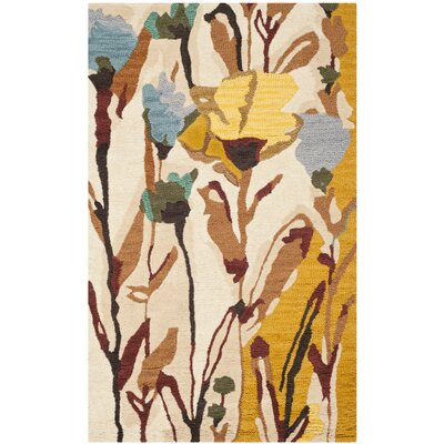 Jardin Ivory/Multi Area Rug Rug Size: Rectangle 3 x 5