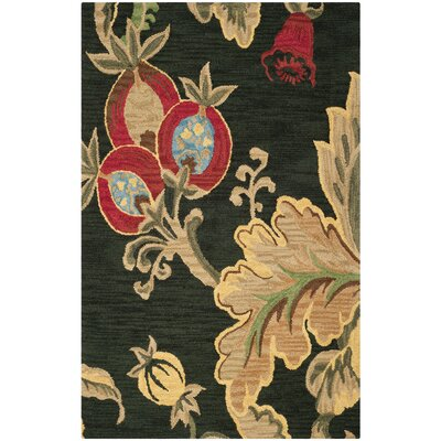 Jardin Black/Multi Area Rug Rug Size: Rectangle 5 x 8