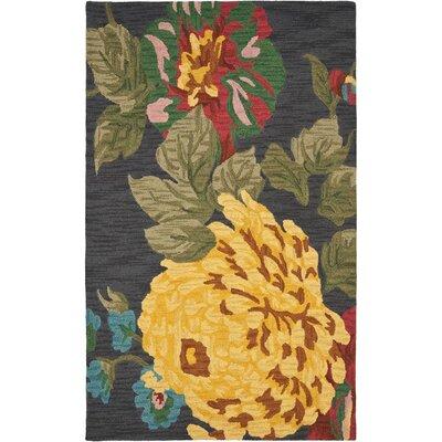 Jardin Black/Multi Daisy Area Rug Rug Size: 8 x 10