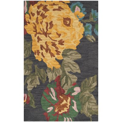 Jardin Black/Multi Daisy Area Rug Rug Size: Rectangle 3 x 5