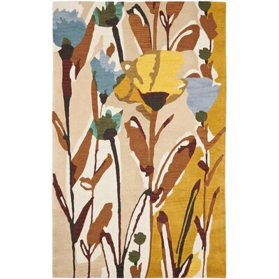 Jardin Ivory/Multi Area Rug Rug Size: Rectangle 5 x 8