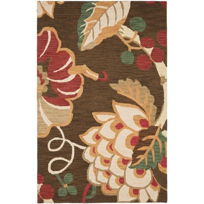 Jardin Brown/Multi Floral Area Rug Rug Size: Rectangle 8 x 10