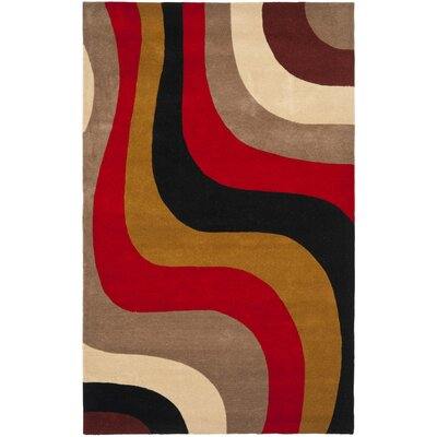Rodeo Drive Red Area Rug Rug Size: 76 x 96