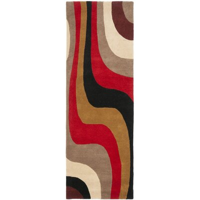 Rodeo Drive Red Area Rug Rug Size: Runner 26 x 8