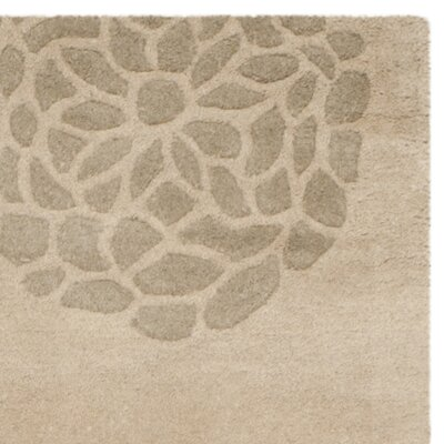 Soho Wool Beige / Multi Contemporary Rug Rug Size: 36 x 56