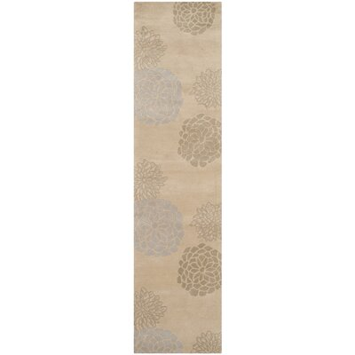 Kenney Wool Beige / Multi Contemporary Rug Rug Size: Runner 26 x 14