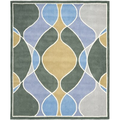 Soho Grey Swirl Area Rug Rug Size: Rectangle 36 x 56