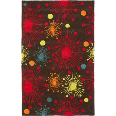 Soho Brown Fireworks Area Rug Rug Size: 76 x 96
