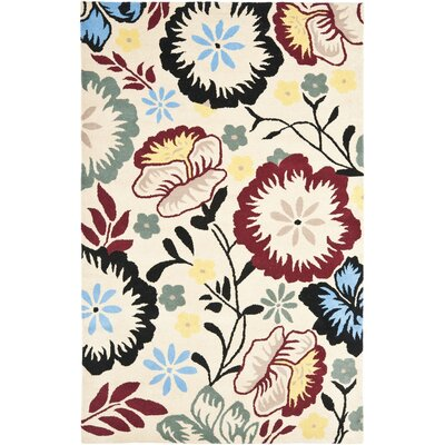 Soho Ivory Area Rug Rug Size: Rectangle 76 x 96