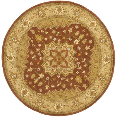 Heritage Rust/Gold Rug Rug Size: Round 6'