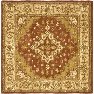Heritage Rust/Gold Rug Rug Size: Square 6'