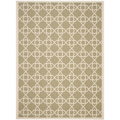 Courtyard Green / Beige Indoor/Outdoor Rug Rug Size: Rectangle 2'7