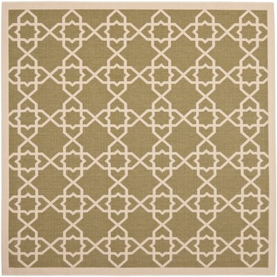 Bexton Green / Beige Indoor/Outdoor Rug Rug Size: Square 67