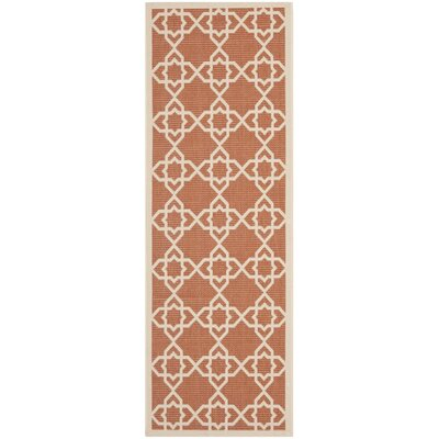 Courtyard Terracotta / Beige Indoor/Outdoor Rug Rug Size: Runner 24 x 911