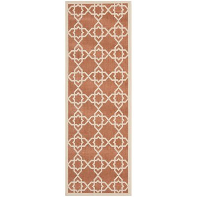 Courtyard Terracotta / Beige Indoor/Outdoor Rug Rug Size: Runner 24 x 67