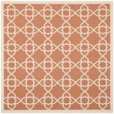 Courtyard Terracotta / Beige Indoor/Outdoor Rug Rug Size: Square 67