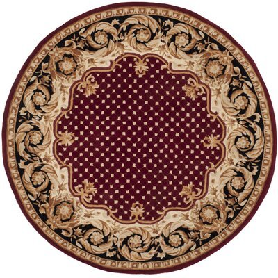 Naples Red Area Rug Rug Size: Round 6