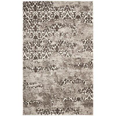 Retro Beige/Light Grey Rug Rug Size: 6' x 9'
