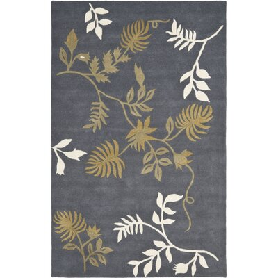 Soho Dark Grey Area Rug Rug Size: Rectangle 76 x 96