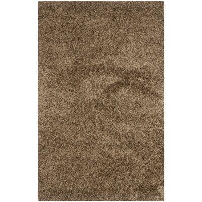 Shag Light Brown Area Rug Rug Size: Square 5'