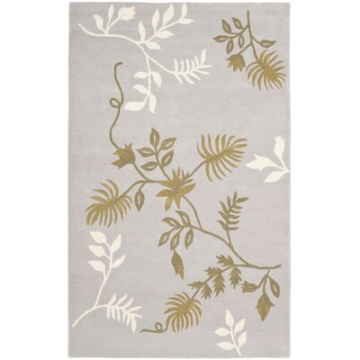 Soho Light Grey Area Rug Rug Size: Rectangle 36 x 56