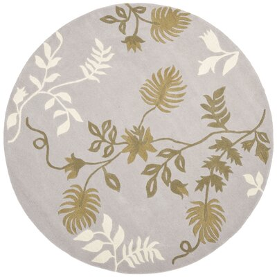 Soho Light Grey Area Rug Rug Size: Round 6