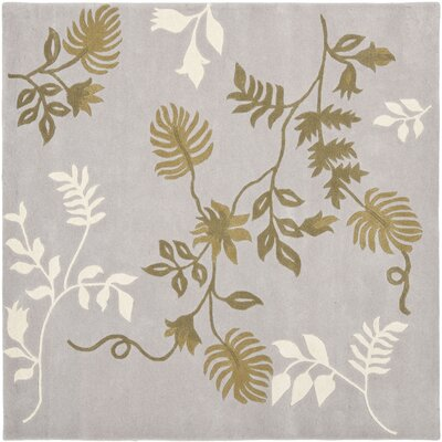 Soho Light Grey Area Rug Rug Size: Square 6