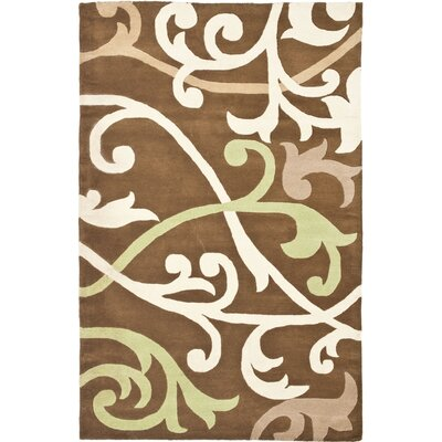 Soho Brown Area Rug Rug Size: Rectangle 76 x 96