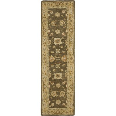Anatolia Brown/Taupe Area Rug Rug Size: Runner 23 x 12