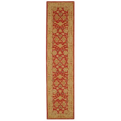 Anatolia Red/Ivory Area Rug Rug Size: Runner 23 x 10