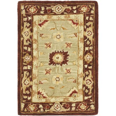 Anatolia Sage/Burgundy Area Rug Rug Size: Rectangle 3' x 5'