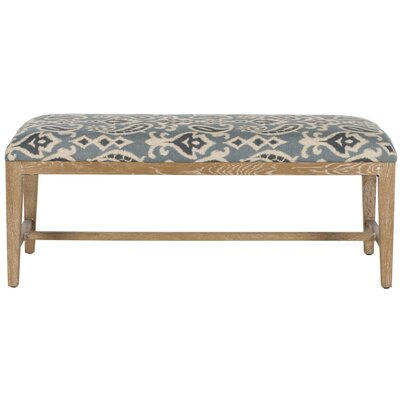 Kaylie Two Seat Bench Color: Blue Pattern