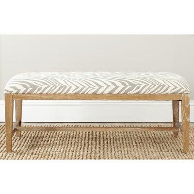 Kaylie Two Seat Bedroom Bench Color: Grey Zebra